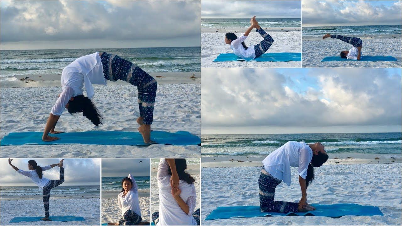 Yoga Asana on the Beach (Destin, Florida) Video | Bhavna's Kitchen