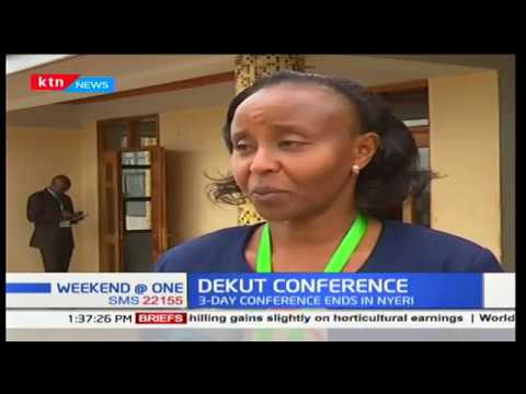 Dedan Kimathi University 3-day conference comes to an end