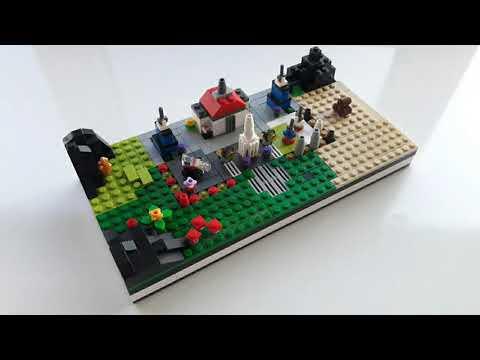Мой Лего город в мини масштабе - 1 серия!😊