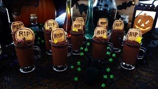 Pudin de Chocolate para Halloween, receta facil y rica.. postre halloween,