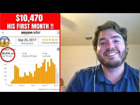 How he sold $10,470 his first month on Amazon FBA 2017 - launching strategies with Jarrod Young
