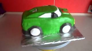 Торт машинка из мастики