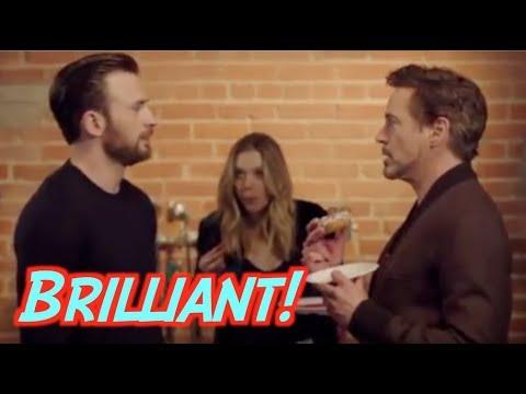 Hilarious Chris Evans vs Robert Downey Jr Clip Reaction - This Is Why We Love the MCU