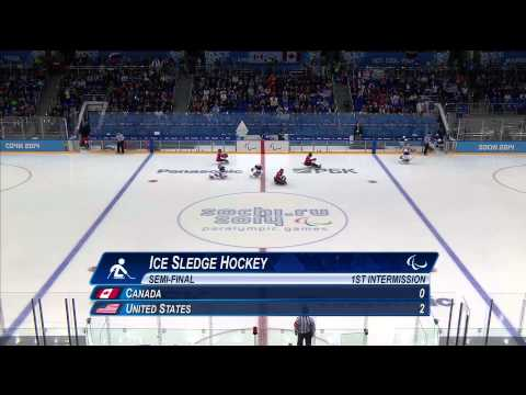 Canada v USA | Semi-final full game| Ice sledge hockey | Sochi 2014 Paralympic Winter Games