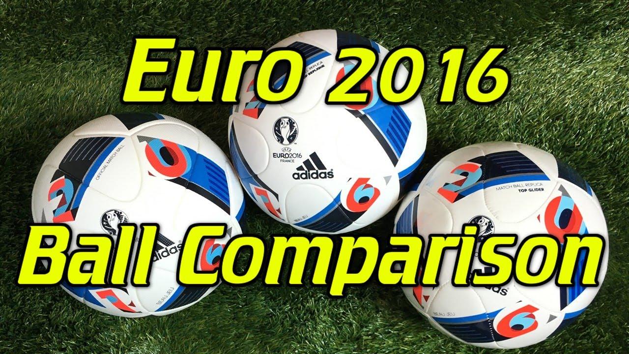 eaf200a3c2082 Adidas Euro 2016 Soccer Ball Football Line Comparison - YouTube