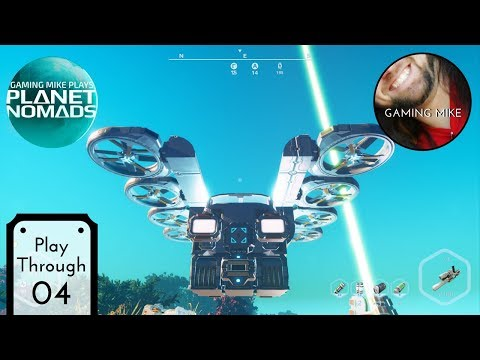 Hovering and Flying Vehicle Parts - Planet Nomads 04 (Live Gameplay Broadcast) [pc 1080p60]