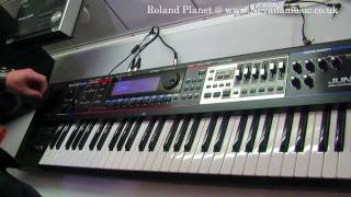 Roland Juno Gi Keyboard Demo with Luke Edwards @ PMT