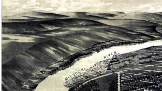 Great Falls Montana 1891 Panoramic Bird
