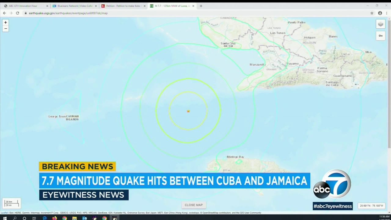 Powerful earthquake strikes near Jamaica and Cuba