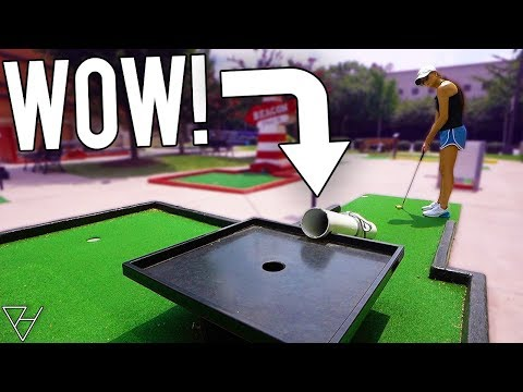Awesome One Of A Kind FREE Mini Golf Course!