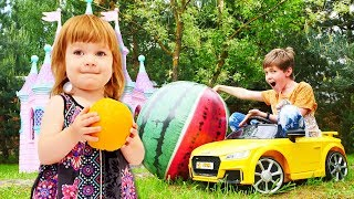 Video e canzoni divertenti per bambini. Cantiamo ed impariamo i nomi dei frutti.