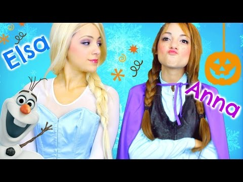 Elsa and Anna Halloween Costume: Hair, Makeup, + Outfits!