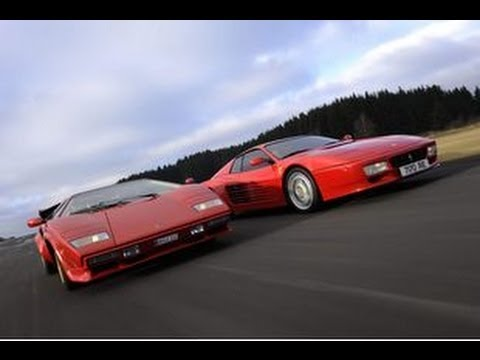 25th lamborghini countach vs ferrari 512 tr rolling racing youtube. Black Bedroom Furniture Sets. Home Design Ideas