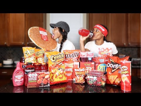 we-only-ate-red-foods-for-24-hours!!-(impossible-food-challenge)