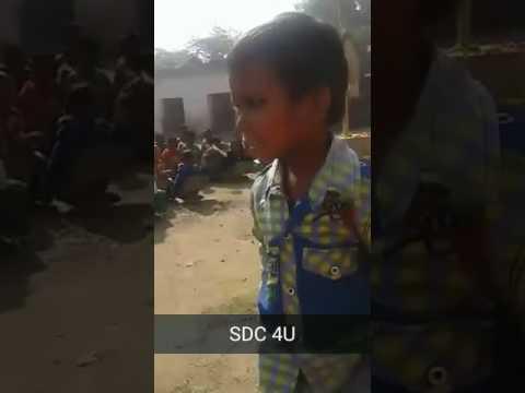 Street fun - Cute Poem by a Cute kid of a village
