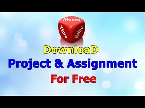 Where to Download Project/Assignment for free (School, College, Research)