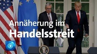 Trump und Juncker: Annäherung im Handelsstreit zwischen EU und USA