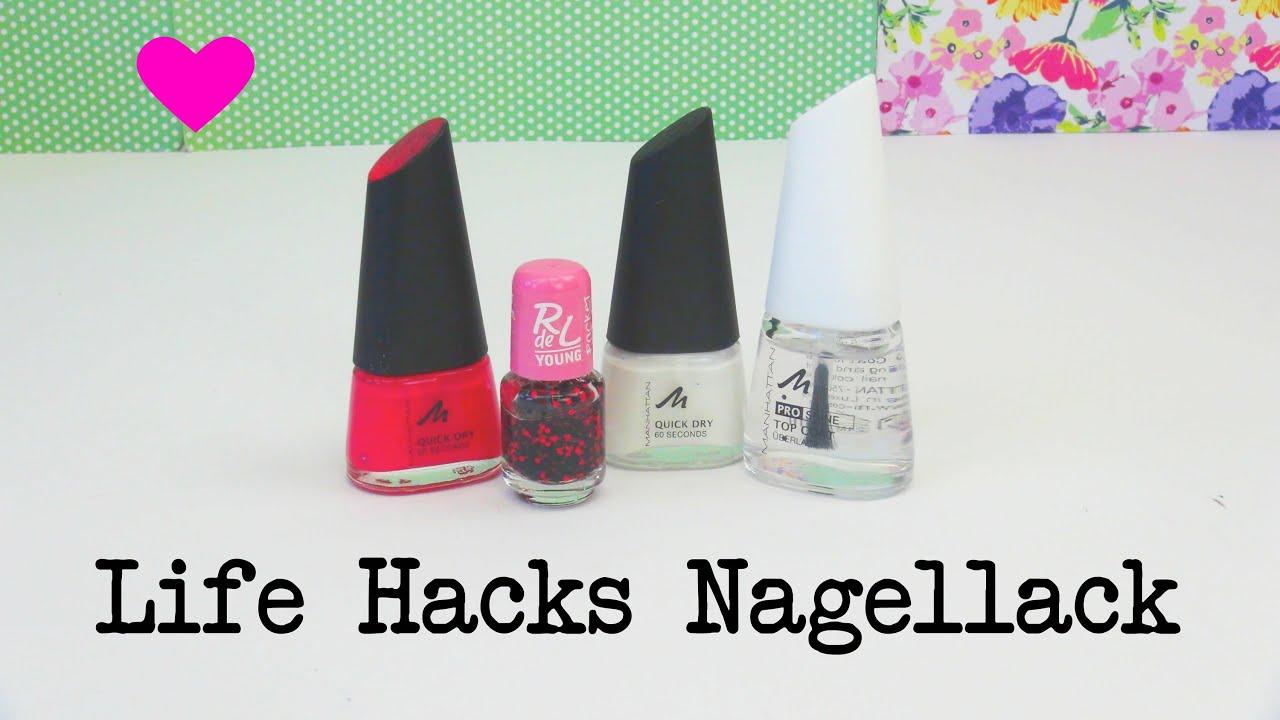 Life Hacks Top 5! NAGELLACK Tipps und Tricks für den perfekten ...