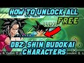 HOW TO UNLOCK ALL CHARACTERS IN DBZ SHIN BUDOKAI