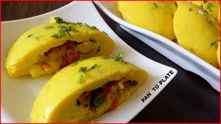नाश्ता हो अगर ऐसा तो बच्चों को आ जाऐ खाने का मजा दूगना | Stuffed Khandvi Idli Sandwich