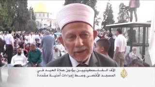 آلاف الفلسطينيين يؤدون صلاة العيد بالمسجد الأقصى