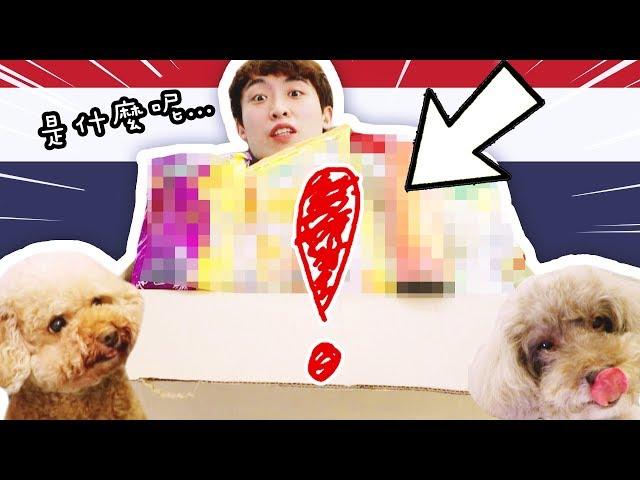 【😋從沒吃過!】泰國寄來的「超大箱手信」✈️!多到誇張!好吃到上癮?(中字)