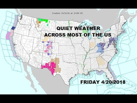 QUIET WEATHER ACROSS MOST OF THE US NO MAJOR STORMS THIS WEEKEND
