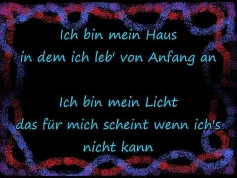 Bin Mein Haus Rosenstolz Lyrics