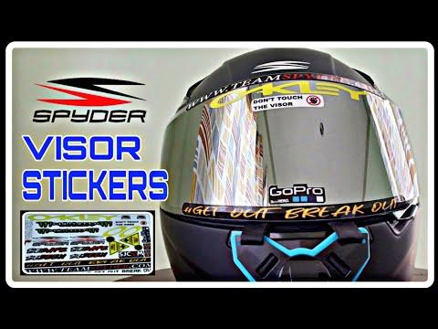 VISOR STICKERS | Waterproof & Fadeproof |SPYDER RECON 2 HELMET