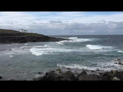 Los Silos, 4K, relax ocean sound.