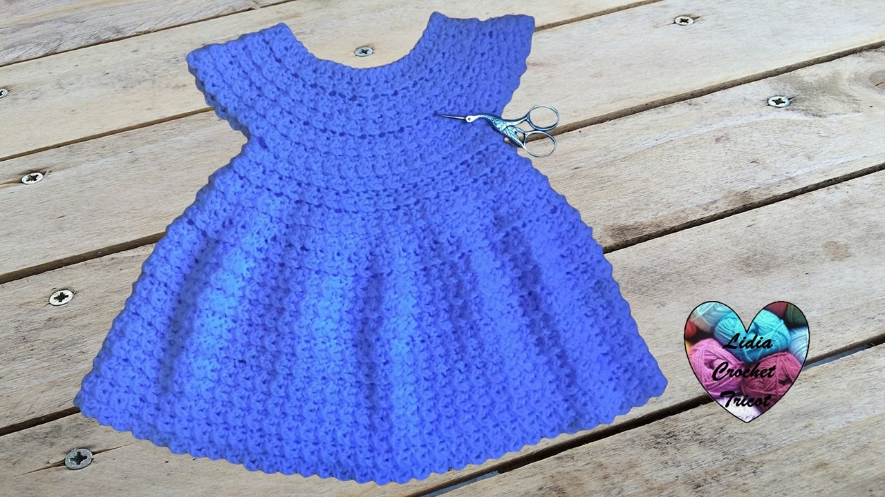d1c9eb3359e9b Robe toutes tailles crochet facile 1 2   Dress crochet easy all sizes -  YouTube