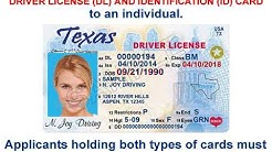 Texas Driver License Office - DL or ID Card?