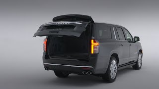 homepage tile video photo for All-New 2021 Tahoe and Suburban: Hands Free Liftgate | Chevrolet