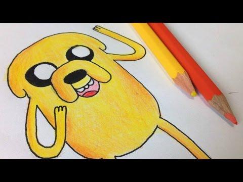 Como Desenhar O Jake Do Hora De Aventura How To Draw Jake From