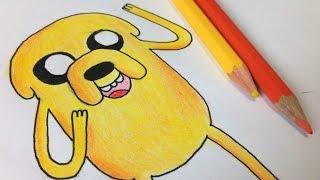 Como desenhar o Jake do Hora de Aventura | How to draw Jake from adventure time