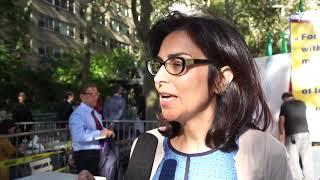 تجمع مخالفان جمهوری اسلامی در مقابل مقر سازمان ملل در نیویورک