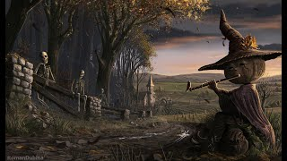 Haunted Village Halloween Ambience  3 Hours of Relaxing Spooky and Fall Nature Sounds, White Noise
