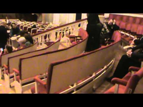 Малый театр, схема зала, партер и амфитеатр