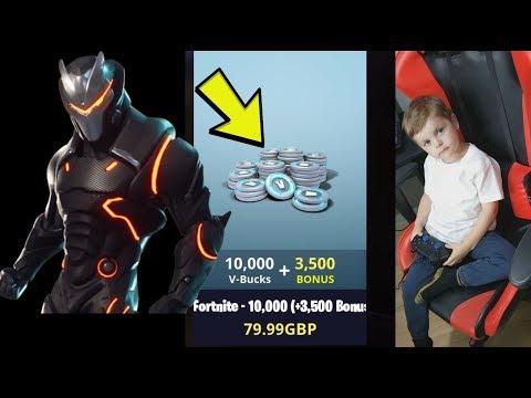 *4 YEAR OLD KID* Spending Spree With 13,500 V-Bucks Buying OMEGA Tier 100 Fortnite.