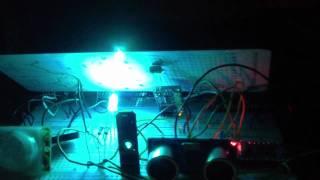 2 Arduino nano + pir + HC-SR04 + ir sensor + electromagnetic detection  ( the time machine project )