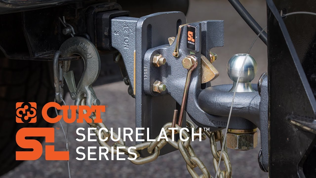 """CURT SecureLatch™ Receiver-Mount Ball and Pintle Hitch for 2"""" Shank/Ball"""