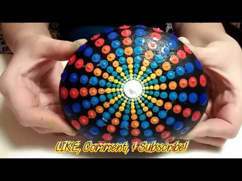 How To Paint Dot Mandalas Urchin Step By Step Guide Stone Youtube
