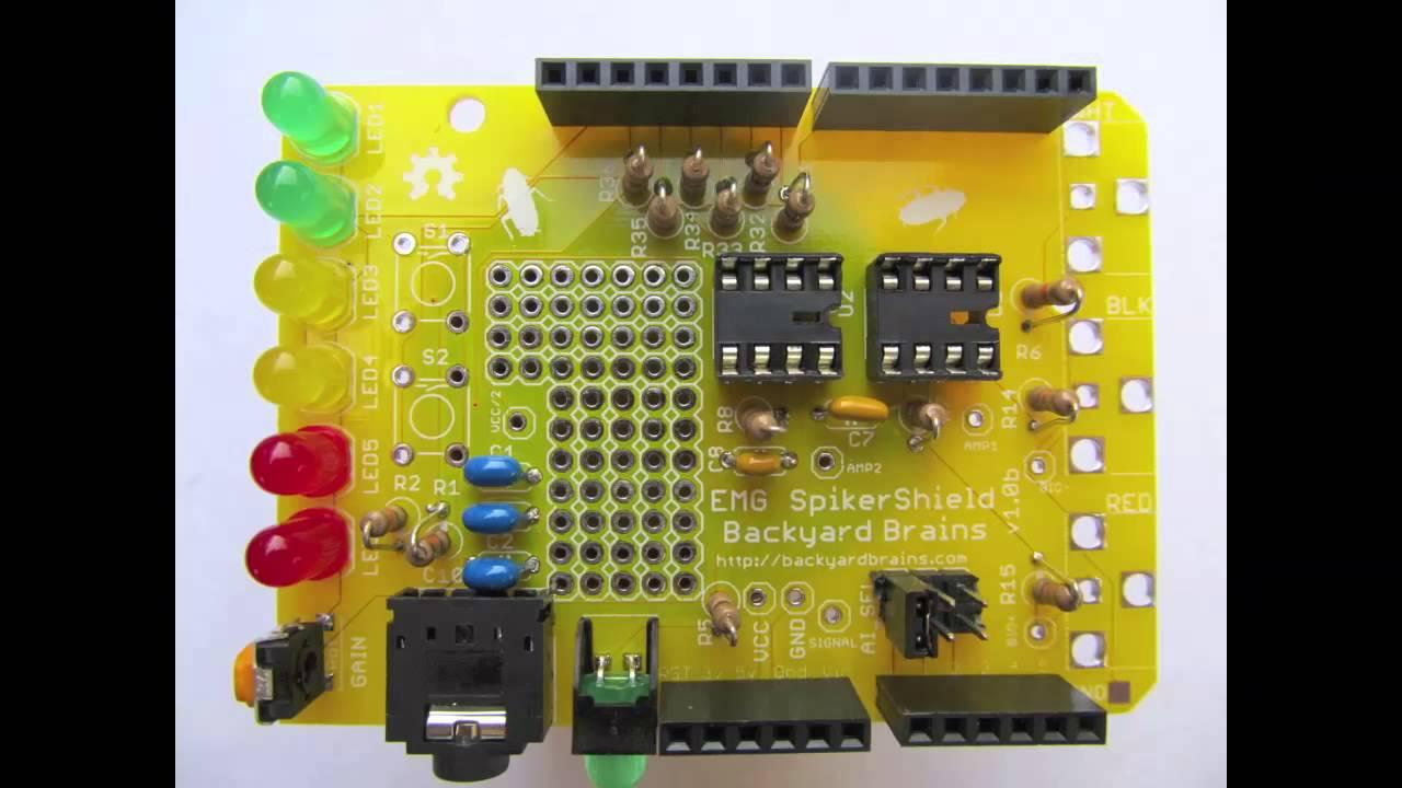 assembly of backyard brains u0027 arduino shield youtube