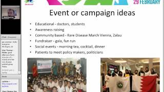 Webinar: Maximising Social Media around Rare Disease Day - 25 November 2015