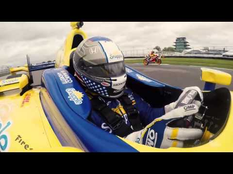 Marco Andretti vs Dani Pedrosa At Indianapolis Motor Speedway