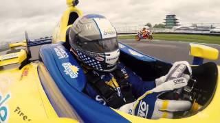 Marco Andretti vs Dani Pedrosa At Indianapolis Motor Speedway