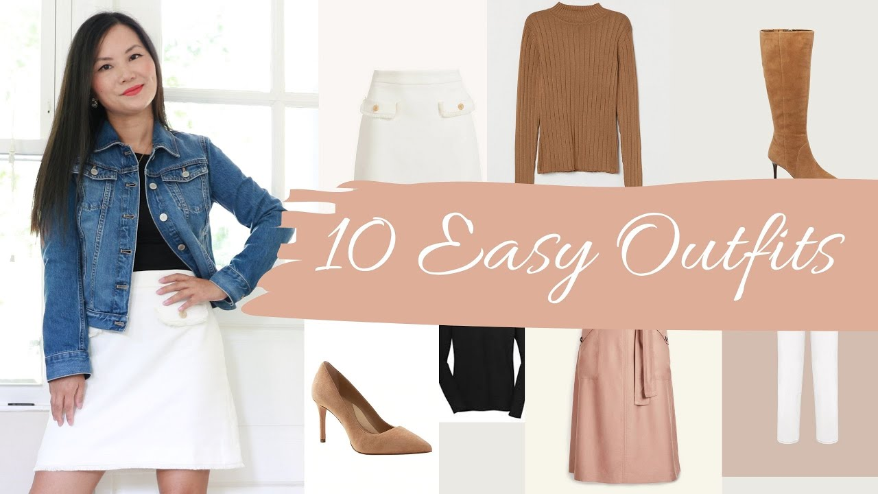 One denim jacket, 10 fall outfits (in 6 minutes)
