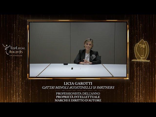 Licia Garotti, Gattai Minoli Agostinelli & Partners - TopLegal Awards 2020