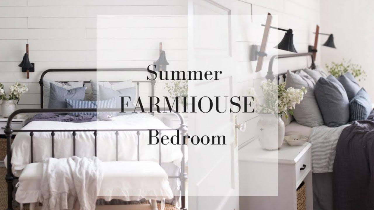 SUMMER FARMHOUSE BEDROOM | DIY Summer Room Decor