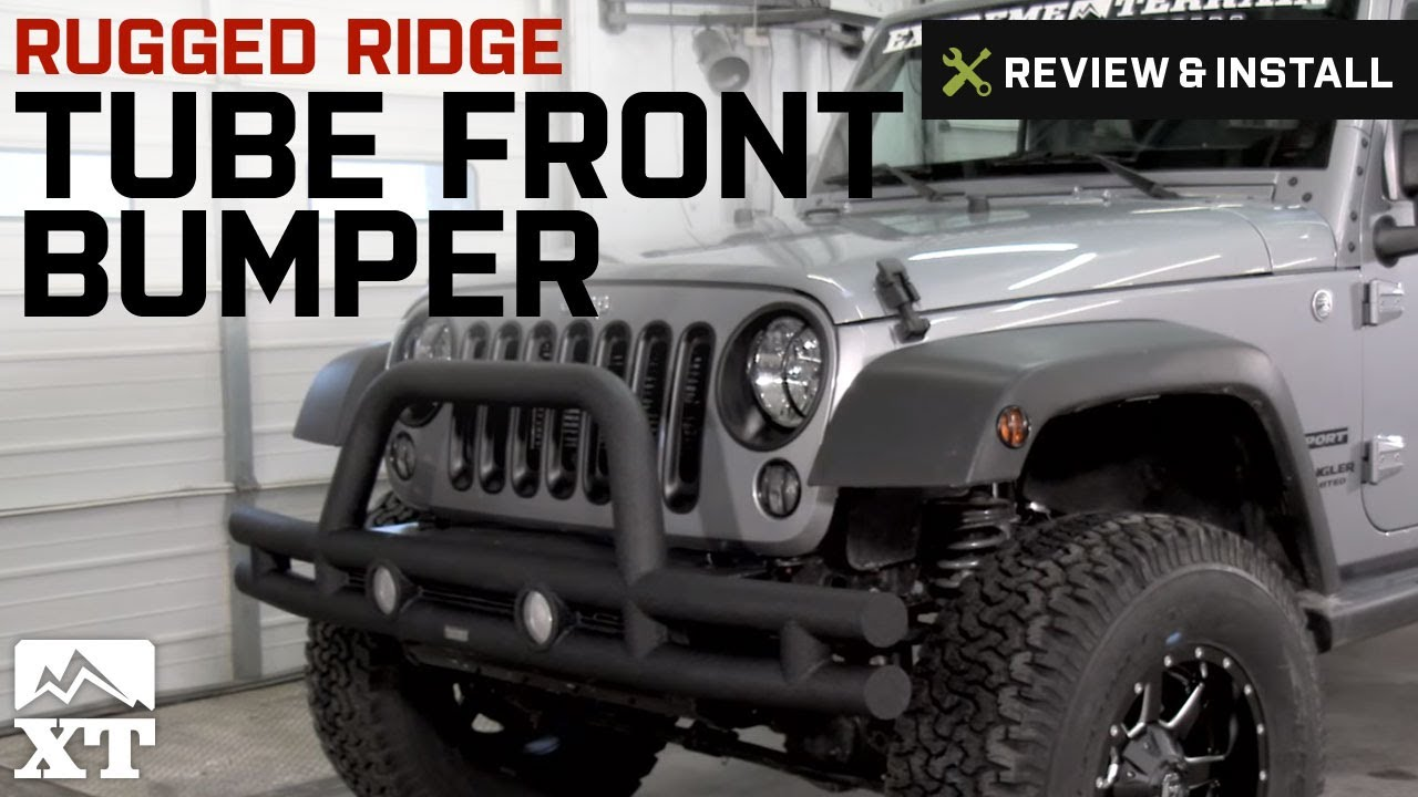 Jeep Wrangler Rugged Ridge Tube Front Bumper 2007 2016 Jk